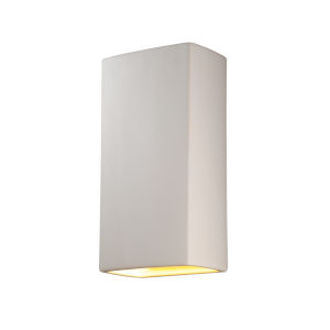 Ambiance Bisque 11-Inch Closed Top GU24 LED Rectangle Outdoor Wall Sconce