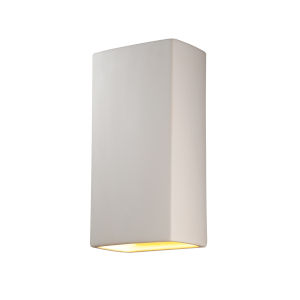 Ambiance Bisque 11-Inch Two-Light Closed Top and Bottom GU24 LED Rectangle Outdoor Wall Sconce
