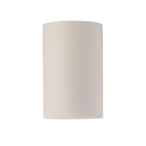 Ambiance Matte White Eight-Inch Closed Top GU24 LED Cylinder Outdoor Wall Sconce