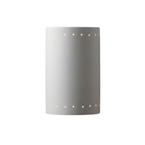 Ambiance Bisque Eight-Inch Closed Top and Bottom GU24 LED Cylinder Outdoor Wall Sconce