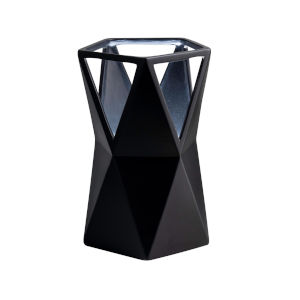 Totem Carbon Matte Black One-Light Ceramic Portable Table Lamp