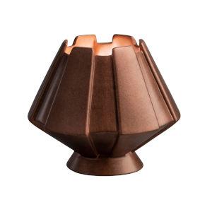 Meta Antique Copper One-Light Ceramic Portable Table Lamp