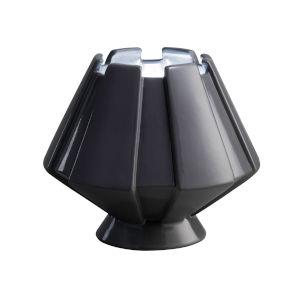 Meta Gloss Gray LED Ceramic Portable Table Lamp