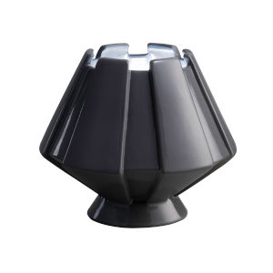 Meta Gloss Gray One-Light Ceramic Portable Table Lamp