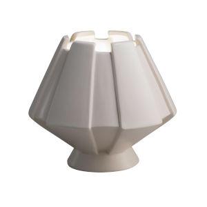 Meta Gloss White One-Light Ceramic Portable Table Lamp