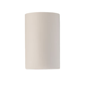 Ambiance Matte White ADA LED Outdoor Ceramic Cylinder Wall Sconce