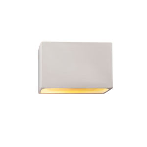 Ambiance Bisque ADA LED Outdoor Ceramic Rectangle Wall Sconce