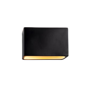Ambiance Carbon Matte Black ADA LED Outdoor Ceramic Rectangle Wall Sconce