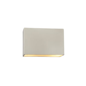 Ambiance Matte White ADA LED Outdoor Ceramic Rectangle Wall Sconce