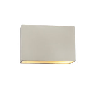 Ambiance Matte White ADA LED Outdoor Large Ceramic Rectangle Wall Sconce