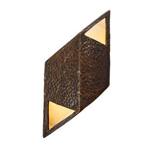 Ambiance Hammered Brass Six-Inch One-Light LED Wall Sconce