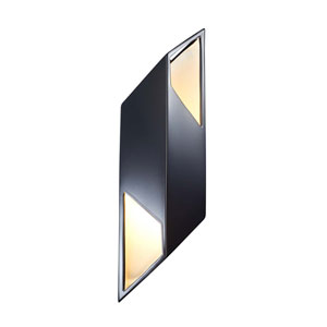 Ambiance Gloss Black and Matte White Six-Inch One-Light LED Wall Sconce