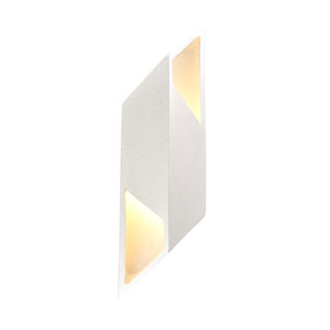 Ambiance White Crackle Six-Inch One-Light LED Wall Sconce