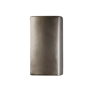 Ambiance Antique Silver GU24 LED Open Top and Bottom Rectangular Wall Sconce