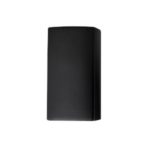 Ambiance Carbon Matte Black ADA LED Outdoor Ceramic Wall Sconce