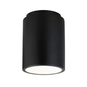 Radiance Carbon Matte Black GU24 LED Outdoor CylinderFlush Mount