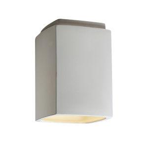 Radiance Bisque Rectangle GU24 LED Outdoor Flush Mount