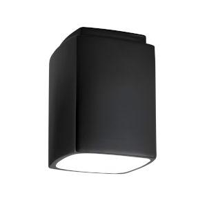 Radiance Carbon Matte Black Rectangle GU24 LED Outdoor Flush Mount