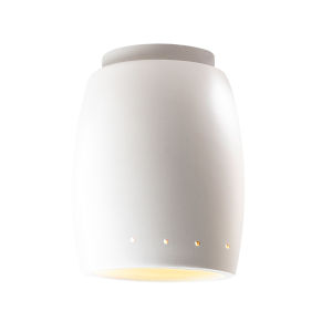 Radiance Bisque Curved GU24 LED Outdoor Flush Mount with Perfs