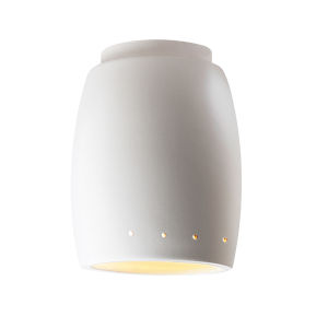 Radiance Matte White Curved GU24 LED Outdoor Flush Mount with Perfs