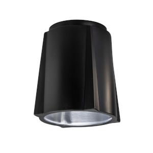 Radiance Carbon Matte Black Compass LED Outdoor Flush Mount