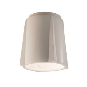 Radiance Matte White Compass LED Outdoor Flush Mount
