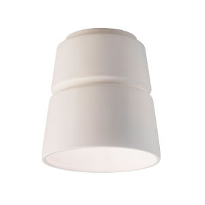 Radiance Bisque One-Light Ceramic Cone Outdoor Flush Mount