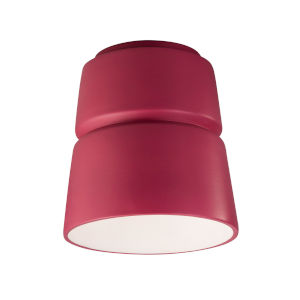 Radiance Cerise LED Ceramic Cone Outdoor Flush Mount