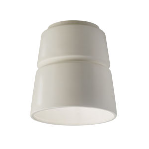 Radiance Matte White LED Ceramic Cone Outdoor Flush Mount