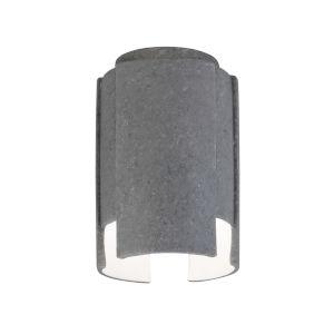 Radiance Concrete Six-Inch Width One-Light Flush Mount
