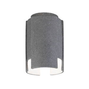 Radiance Concrete One-Light Ceramic Stagger Outdoor Flush Mount