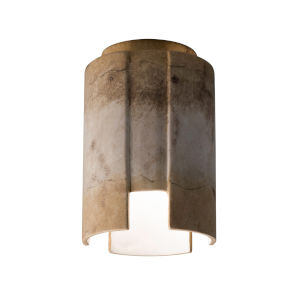 Radiance Greco Travertine LED Ceramic Stagger Outdoor Flush Mount