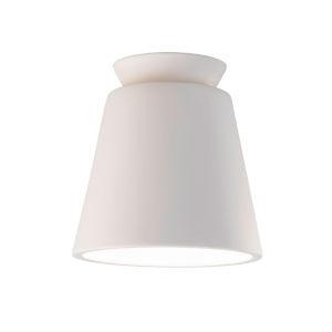 Radiance Bisque One-Light Ceramic Trapezoid Outdoor Flush Mount