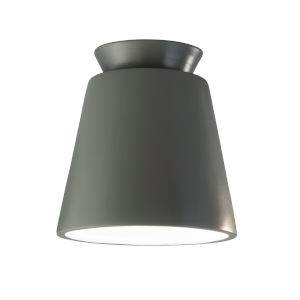 Radiance Pewter Green LED Ceramic Trapezoid Outdoor Flush Mount