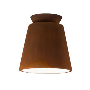 Radiance Real Rust LED Ceramic Trapezoid Outdoor Flush Mount