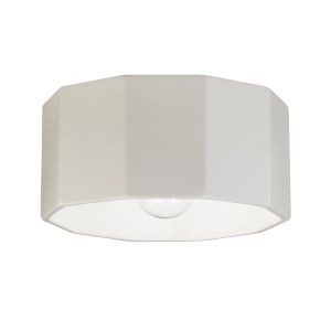 Radiance Matte White One-Light Deca Outdoor Flush Mount