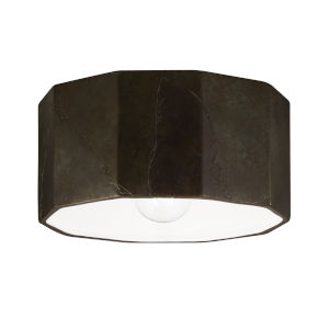 Radiance Tierra Red Slate One-Light Deca Outdoor Flush Mount