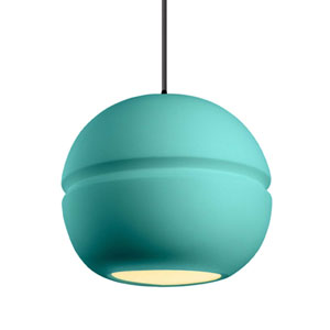 Radiance Reflecting Pool Ceramic and Matte Black 12-Inch One-Light Pendant