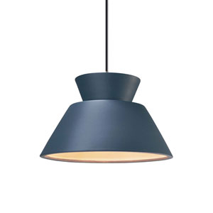 Radiance Midnight Sky Ceramic and Brushed Nickel 11-Inch One-Light Pendant
