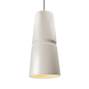 Radiance Matte White and Dark Bronze Two-Light LED Mini Pendant