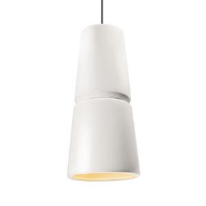 Radiance Gloss White and Dark Bronze Two-Light LED Mini Pendant