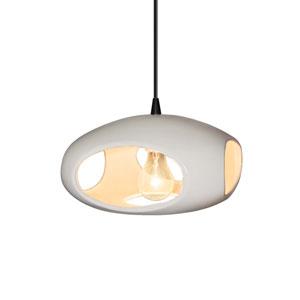 Radiance Matte White Ceramic 12-Inch One-Light Punch Pendant