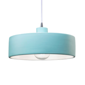 Radiance Polished Chrome One-Light Pendant with Reflacting Pool Shade