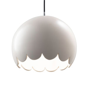 Radiance Polished Chrome One-Light Scallop Mini Pendant with Matte White Shade