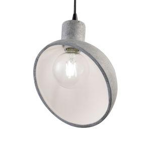 Radiance Matte Black One-Light Sphangle Mini Pendant with Concrete Shade