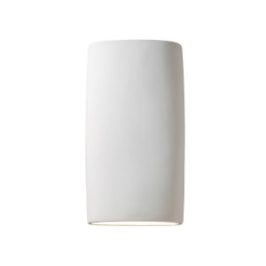 Ambiance Bisque Two-Light Wide Cylinder ADA LED Outdoor Wall Sconce