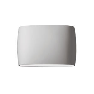 Ambiance Bisque Two-Light LED ADA Outdoor Ceramic Wide Oval Wall Sconce