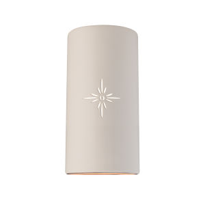 Sun Dagger Matte White 11-Inch Two-Light Cylindrical Wall Sconce