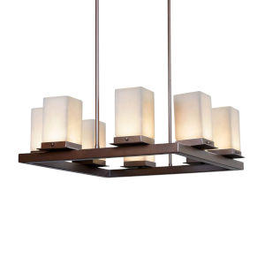 Clouds - Laguna Dark Bronze 25-Inch Eight-Light LED Outdoor Chandelier
