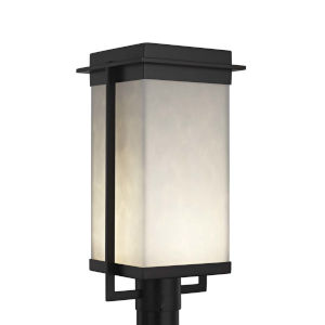 Clouds - Pacific Brushed Nickel Nine-Inch LED Outdoor Post Light